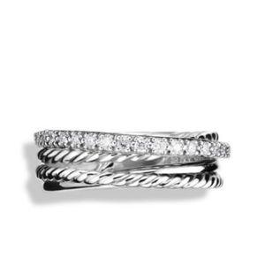 David Yurman Diamond Twist Ring—Damaged Sz 6.5